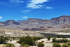 Pierce Ferry Road landscapes, Meadview. Grand Canyon National park, USA royalty free stock photography