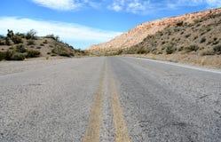 Pierce Ferry Road, Meadview Parc national de canyon grand, Arizona Photos stock