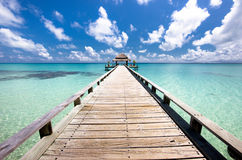 Pierce in the Indian Ocean Royalty Free Stock Photo