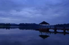 Pierce Reservoir, Singapore - dawn scene stock image