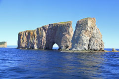 Pierce Rock viewed by sea, Quebec, Canada Stock Photo