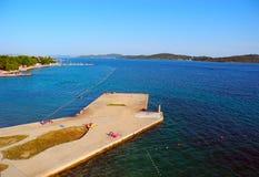 Pierce in Vodice, Croatia. Royalty Free Stock Photo