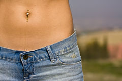 Pierced abdomen Stock Photography