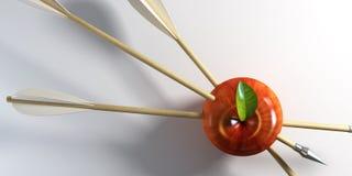 Pierced apple stock illustration