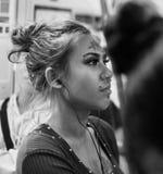 Pierced beauty, Skytrain, Bangkok Stock Photography