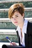 Pierced businesswoman Stock Image