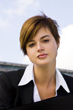 Pierced businesswoman Royalty Free Stock Photos