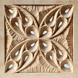 Pierced Carved Wood Panel Royalty Free Stock Photos
