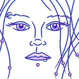 Pierced girl sketch Stock Photography
