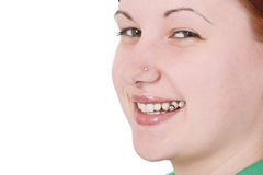 Pierced smile Royalty Free Stock Image