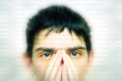Piercing Blick Stockbild