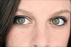Piercing Eyes Side Glance Stock Photography