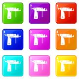 Piercing gun set 9 Royalty Free Stock Photos