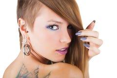 Piercings och tatuering Royaltyfri Foto