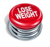 Pierda el botón rápido del peso Imágenes de archivo libres de regalías