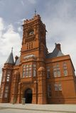 Pierhead Building. Red brick Victorian Offices and clocktower built in Cardiff Bay for the Bute Docks Company, UK royalty free stock photography