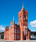 Pierhead Building at Cardiff Bay. It was built in 1897 and today stands as one of the Cardiff's most familiar landmarks Royalty Free Stock Photos