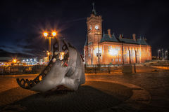 Pierhead building and Merchant Seafarer`s War Memorial Royalty Free Stock Images