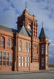 Pierhead, Cardiff Bay, Wales. Pierhead building in Cardiff Bay, Wales, UK Stock Image