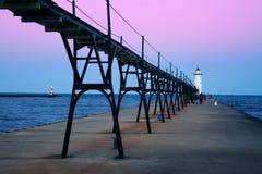pierhead du nord de manistee de phare photos libres de droits