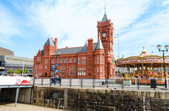 Pierhead-Gebäude an Cardiff-Bucht - Wales, Vereinigtes Königreich Lizenzfreie Stockfotografie
