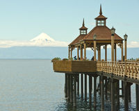 Piering to Osorno Stock Photography