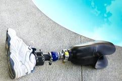 Pierna Bionic Imágenes de archivo libres de regalías