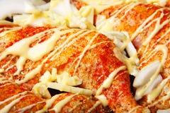 Pierna de la carne del pollo Foto de archivo