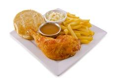 Pierna de pollo asada imagen de archivo libre de regalías