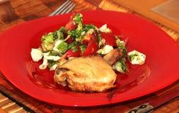 Pierna de pollo asada Imagenes de archivo