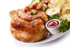 Pierna de pollo asada Fotos de archivo libres de regalías