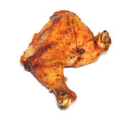Pierna de pollo asada a la parilla Foto de archivo
