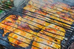 Pierna de pollo asada a la parilla Imagenes de archivo