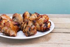 Pierna de pollo asada a la parilla Fotografía de archivo libre de regalías