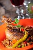 Pierna de pollo asada a la parilla Imagen de archivo