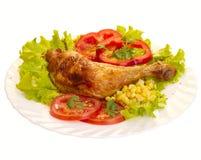 Pierna de pollo asada a la parilla Fotografía de archivo