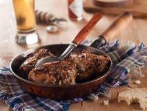 Pierna de pollo cocida al horno Fotografía de archivo