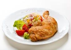 Pierna de pollo de carne asada Fotografía de archivo libre de regalías