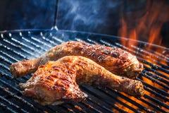 Pierna de pollo de carne asada fotografía de archivo