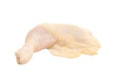 Pierna de pollo en un fondo blanco Foto de archivo