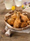 Pierna de pollo frito foto de archivo