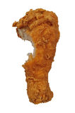 Pierna de pollo frito con la mordedura Imagen de archivo libre de regalías