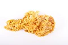 Pierna de pollo frito en blanco Fotografía de archivo