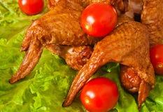 Pierna de pollo hinchada deliciosa con la cereza Foto de archivo libre de regalías