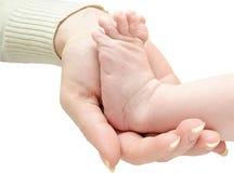 Pierna del bebé disponible Imágenes de archivo libres de regalías