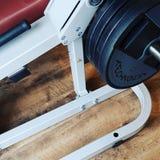 pierna del deporte de los legpress de la aptitud del gimnasio Foto de archivo