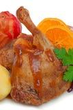 Pierna del ganso de la carne asada. fotos de archivo libres de regalías