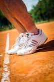 Pierna del jugador de tenis Imagenes de archivo