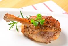 Pierna del pato de carne asada Fotos de archivo