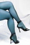 Piernas atractivas azules Foto de archivo